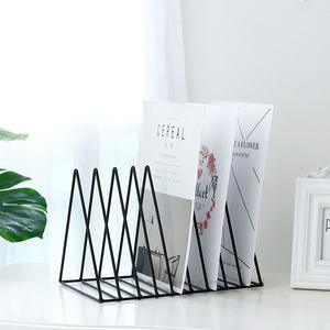 【大款】金屬三角書架 鐵藝書架 置物架 辦公室裝飾架 桌面書刊收納架 CD光碟架 報紙文件架