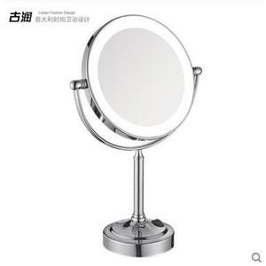 LED帶燈鏡子浴室化妝鏡台式雙面鏡