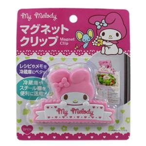 【卡漫城】 美樂蒂 磁鐵夾 單入 ㊣版 造型 My Melody 磁力 冰箱留言 文件夾 食譜夾 三麗鷗 吸鐵