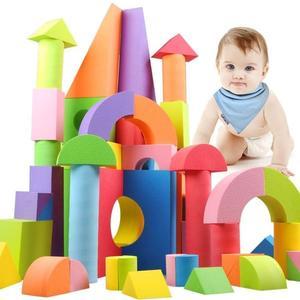 斯爾福兒童軟體海綿積木玩具超大型eva泡沫積木磚頭塊幼兒園拼裝 金曼麗莎