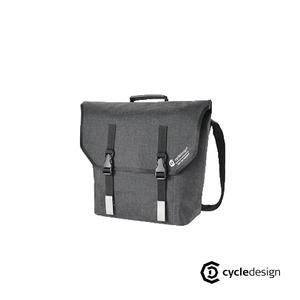 cycledesign 防水輕量旅行郵差包 (深灰)