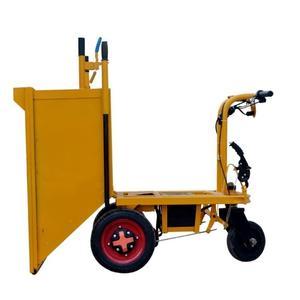 建筑工地電動手推灰斗車水泥推車三輪翻斗車室內搬運車養殖農用 完美