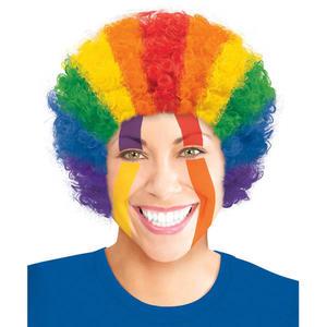 爆炸頭假髮1入-彩虹