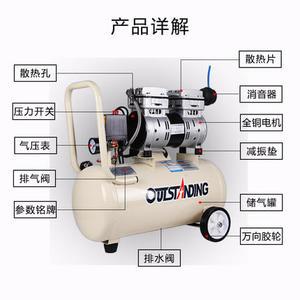 空壓機空壓機小型高壓氣泵空壓機220V奧突斯靜音無油木工噴漆便攜充氣泵 Igo