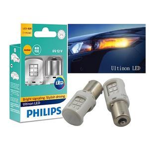 台灣代理公司貨 PHILIPS 飛利浦 LED VISION晶亮系列 單芯煞車燈 琥珀色 S25 PY21W