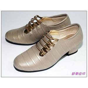 ~節奏皮件~☆國標舞鞋~~女練習鞋 編號 695-53 (銀銅)