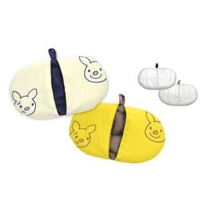 《齊洛瓦鄉村風雜貨》日本zakka雜貨 日本lucky pig幸運豬系列 隔熱手套 鍋敷 芥末色小豬隔熱套