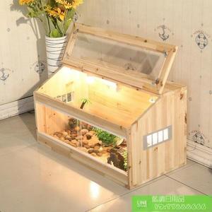 爬蟲箱 陸龜飼養箱 蜥蜴爬蟲木箱 寵物飼養箱刺猬蜘蛛保溫箱龜箱