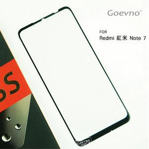 Goevno Redmi 紅米 Note 7 滿版玻璃貼 黑色 全屏 滿版 鋼化膜 9H硬度 保護貼