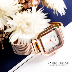MEIBIN歲月的餘溫米蘭金屬鍊帶方形手錶【WM1181】璀璨之星☆