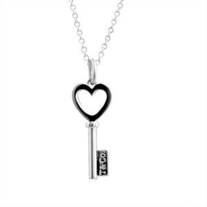 Tiffany & Co.  Keys愛心鑰匙純銀項鍊