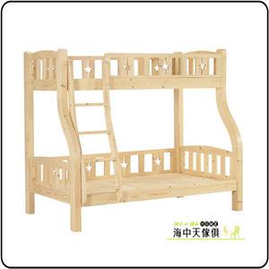 {{ 海中天休閒傢俱廣場 }} G-02 摩登時尚 雙層床系列 096-1 松木紋雙層床架(樓梯型)