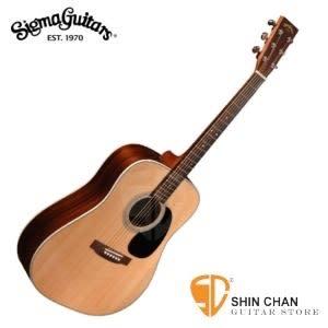 【源自Martin製琴工藝】Sigma DR-28 單板民謠吉他  (雲杉面單板/經典D桶身) 印度玫瑰木側背板