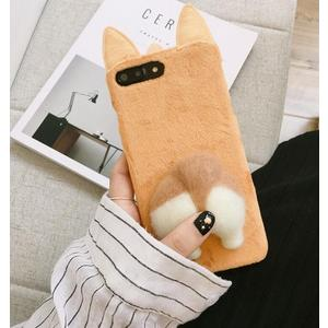 【SZ24】iPhone X 手機殼 韓國卡通搞怪柯基屁屁硬殼 iPhone7/8 plus手機殼 iPhone6s plus手機殼