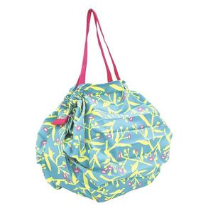 【Shupatto】 輕巧秒收環保袋(M/草花) 折疊 大容量 環保袋 購物袋 萬用包 旅行收納 日本MARNA
