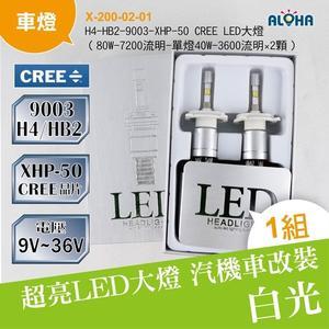 LED汽車改裝 LED大燈 H4-HB2-9003-XHP-50 CREE LED大燈-兩顆一組 (X-200-02-01)