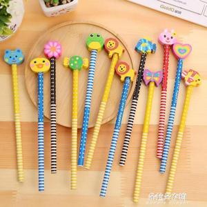 鉛筆兒童學習用品小學生獎品禮品hb創意可愛卡通帶橡皮擦文具  朵拉朵衣櫥
