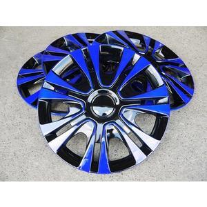 藍黑款 改裝亮面款 仿鋁圈樣式 通用型 四片裝 13吋 14吋 通用型 輪圈蓋 鐵圈蓋 保護蓋