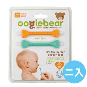美國Oogiebear QQ熊耳鼻清潔棒-黃綠2入組