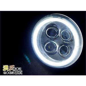 【洪氏雜貨】 236A219 摩托車霧燈 白+白光圈 單入 水底燈 光圈魚眼霧燈 LED
