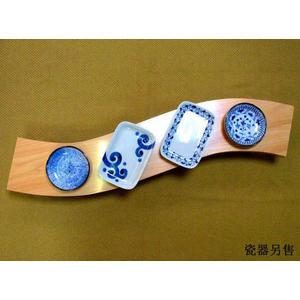 日本檜木砧板土佐龍【檜木擺盤餐座80cm】懷石壽司餐檯擺盤餐座