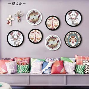 簡約現代圓形相框6寸10寸12寸7寸16掛墻476050cm中式裝裱畫框創意【櫻花本鋪】