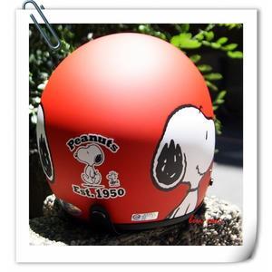 林森●史努比復古帽,3/4帽,半罩式,803,#3/消光紅