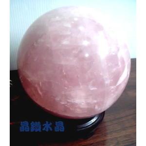 『晶鑽水晶』天然粉晶球3.3公斤-約13.5公分-附原木球座*免運費