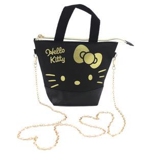 【卡漫城】 Hello Kitty 可觸控 肩背包 帆布 黑 ㊣版 斜背包 手機包 隨身包 化妝包 側背包 手提包