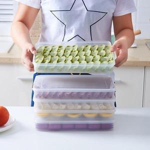 餃子盒冷凍凍餃子不分格速凍保鮮冰箱收納盒多層家用神器水餃托盤   LannaS