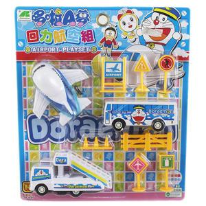 【卡漫城】 Doraemon 飛機場 迴力 航空組 兒童玩具 ㊣版 家家酒 哆拉 哆啦 A夢 小叮噹 接駁車 巴士