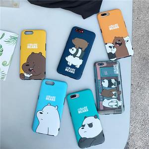 秋奇啊喀3C配件----日韓可愛卡通裸熊系列oppor9S手機殼全包r9s plus防摔硅膠軟殼