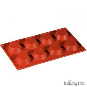義大利 Pavoni 多連矽膠模 小圓塔 蛋塔造型 半圓柱 巧克力模 蛋糕模 慕斯模 果凍模 點心模 PV FR040