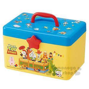 〔小禮堂〕迪士尼 玩具總動員 塑膠手提收納箱《黃藍.紙箱》工具箱.置物盒.飾品盒 4973307-41362