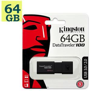 Kingston 64GB 64G【DT100G3】Data Traveler 100 G3 DT100G3/64GB USB 3.0 金士頓 原廠保固 隨身碟