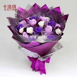 香皂花束肥皂玫瑰花束卡通花束创意生日礼品混搭花束送女友同学LG-180885