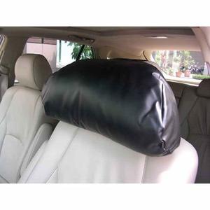 車之嚴選 cars_go 汽車用品【3023】3D護頸系列-超柔軟皮製大頭枕 車用舒適 頭頸枕 護頸枕-三色選擇