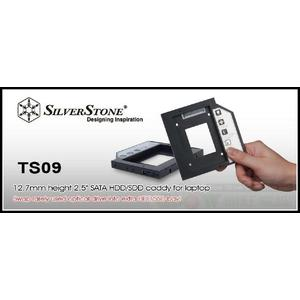 銀欣 SilverStone TS09 硬碟轉接架~筆電薄型光碟機的空間安裝2.5吋硬碟