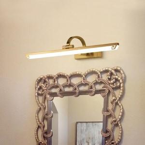 全銅美式led鏡前燈衛生間浴室簡約鏡柜化妝燈 萬客居