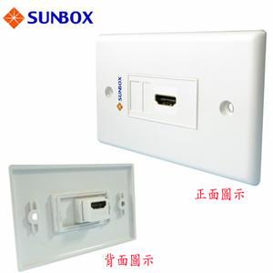 HDMI 面板插座 單孔(WP-1H) - SUNBOX