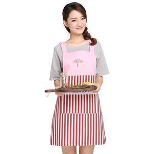 圍裙七之蓮圍裙韓版時尚廚房防油防汙圍腰訂製 麥吉良品