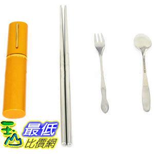 _a@[有現貨 馬上寄] 三合一 環保攜帶型 不鏽鋼製 環保筷、湯匙、叉子 隨身餐具組 (22359_M105)