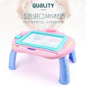 兒童繪畫板 兒童磁性畫板桌寶寶超大號寫字板益智彩色塗鴉板幼兒畫畫玩具 3歲 快樂母嬰