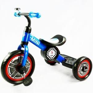 【愛吾兒】英國 Mini Cooper 兒童三輪車10吋 激光藍  BMW原廠授權