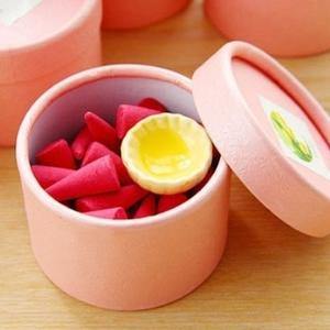 【BlueCat】泰式薰香植物精油錐形香塔禮盒(附陶瓷香盤)