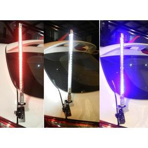 高亮度 LED天線 通用型 44cm 粗版 夾式 裝飾天線 仿無線電天線 旗桿 仿木瓜天線 天線 流星燈 流水燈