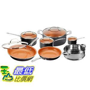 [8美國直購] 不沾鍋 廚具套裝 Gotham Steel 12 Piece Copper Kitchen Set with Non-Stick Ti-Cerama Copper
