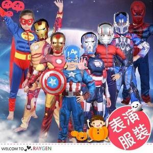 萬聖節cosplay表演服裝肌肉美國隊長鋼鐵俠超人雷神綠巨人