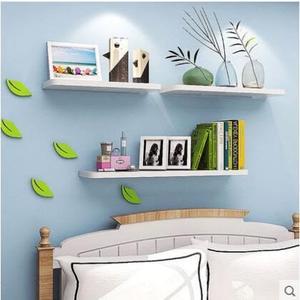 現代簡約書架裝飾架牆上置物架牆壁客廳一字隔板擱板壁掛牆面層板