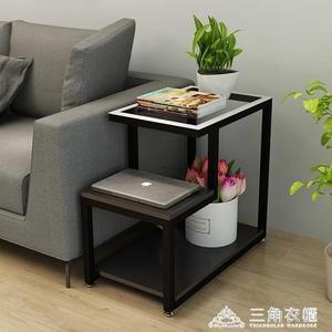 簡約客廳小茶幾邊角桌迷你角櫃沙發櫃邊櫃玻璃小邊幾角幾臥室邊桌ATF 三角衣櫃
